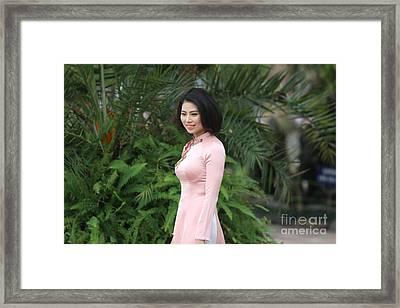 Beauty Vietnamese Woman Framed Print