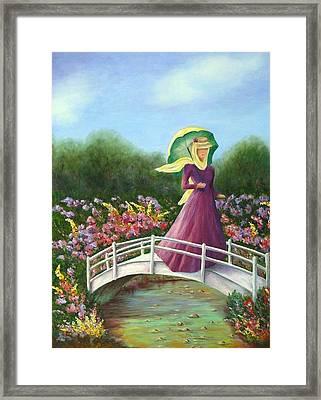Beauty Wherever She Goes Framed Print by Merle Blair
