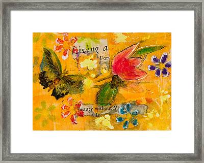 Beauty Without Vanity Framed Print