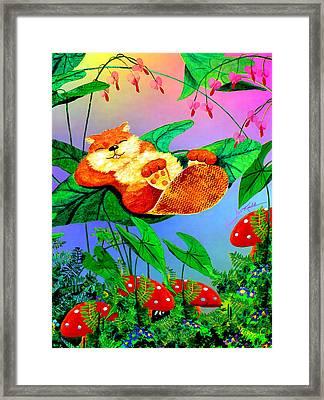 Beaver Bedtime Framed Print by Hanne Lore Koehler