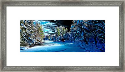 Beaver Brook Panorama Framed Print by David Patterson