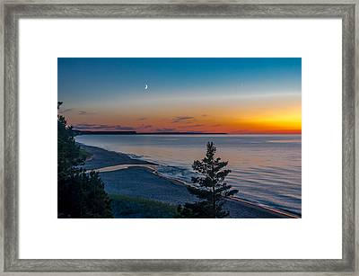 Beaver Creek Sunset Framed Print