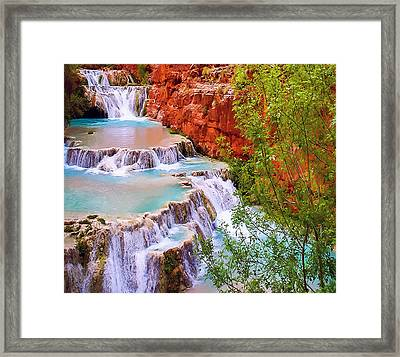 Beaver Falls Grand Canyon Painting Framed Print by Dr Bob Johnston