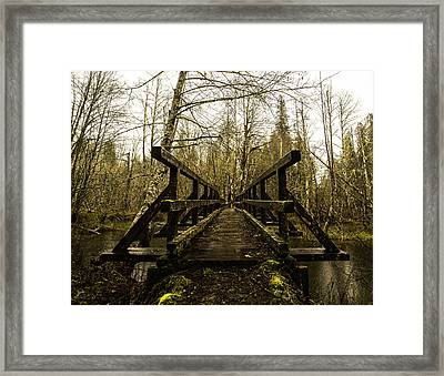 Beaver Lake Bridge Framed Print by Thomas Ashcraft