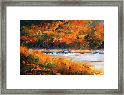 Beaver Lake Impressionist - Beaver Lake Art Framed Print