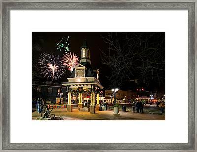 Beaver Light Up Night  Framed Print