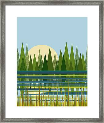 Beaver Pond - Vertical Framed Print