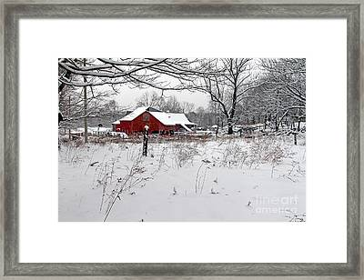 Beaver River Road Barn Framed Print by Jim Beckwith