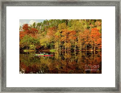 Beaver's Bend Canoeing Framed Print by Tamyra Ayles