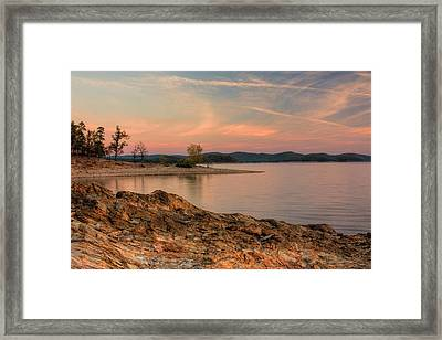 Beavers Bend Sunrise Framed Print