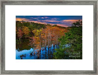 Beavers Bend Twilight Framed Print by Inge Johnsson