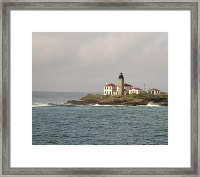 Beavertail Lighthouse Framed Print