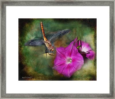 Framed Print featuring the digital art Because - John Lennon Tribute by Rhonda Strickland