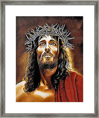 Because He Loves You Framed Print