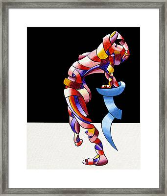 Framed Print featuring the painting Becca 208-08 by Mark Webster