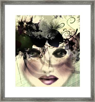 Framed Print featuring the digital art Becca by Katy Breen