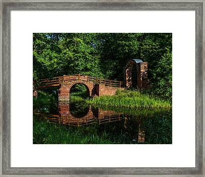 Beckerbruch Bridge Reflection Framed Print