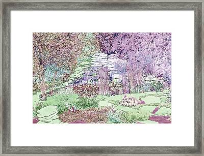 Beckie's Magic Garden Framed Print