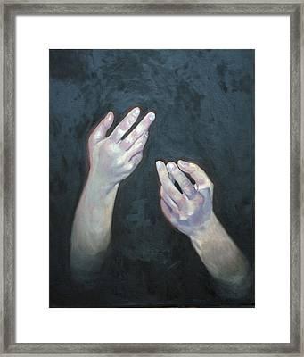 Beckoning Hands Framed Print by Douglas Manry