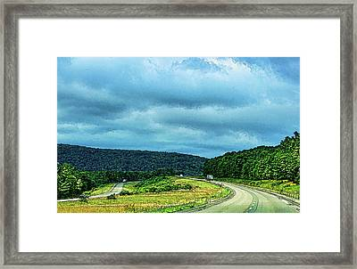 Beckoning Road Framed Print