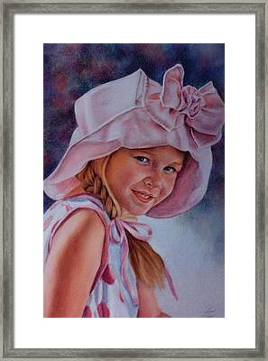 Framed Print featuring the painting Becky by Ann Peck