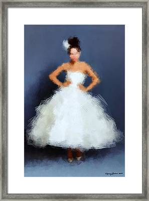 Framed Print featuring the digital art Becky by Nancy Levan