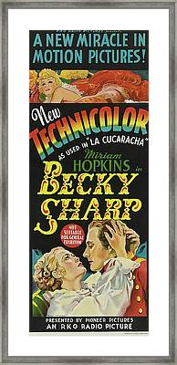 Becky Sharp 1935 Framed Print by R K O