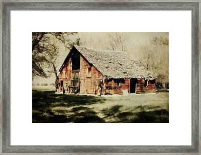 Beckys Barn 1 Framed Print by Julie Hamilton