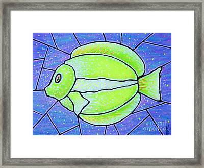 Beckys Yellow Tropical Fish Framed Print by Jim Harris