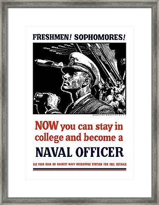 Become A Naval Officer Framed Print by War Is Hell Store