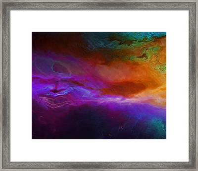 Becoming - Abstract Art - Triptych 1 Of 3 Framed Print