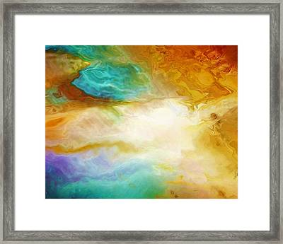 Becoming - Abstract Art - Triptych 2 Of 3 Framed Print