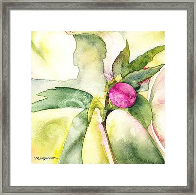 Becoming Framed Print by Casey Rasmussen White