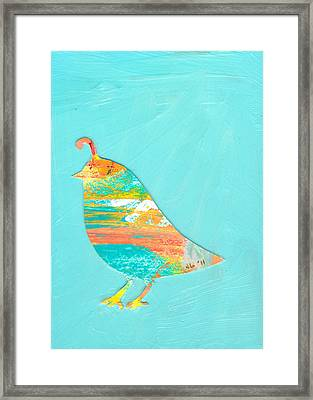 Becoming Quail Framed Print