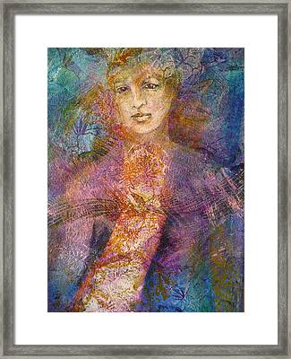 Becoming The Flower Framed Print by Sue Reed