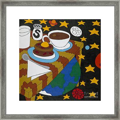 Bed And Breakfast Framed Print by Rojax Art