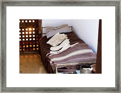 Bed At Eastern State Penitentiary  Framed Print