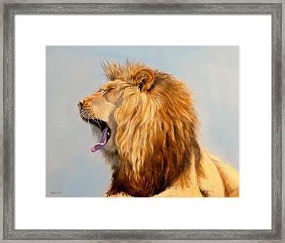 Bed Head - Lion Framed Print