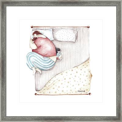 Bed. King Size. Framed Print