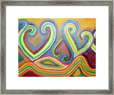 Bed Of Hearts Framed Print by G Hanson