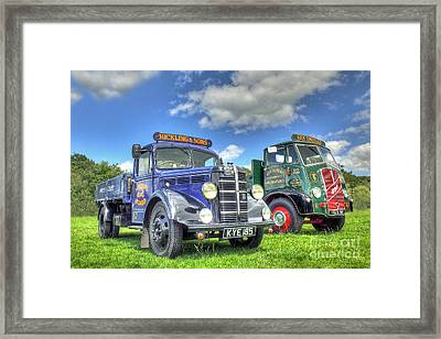 Bedford Dropside Tipper Framed Print by Catchavista