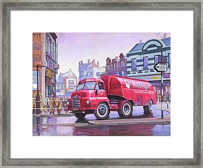 Bedford S Type Tanker. Framed Print