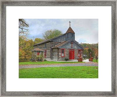 Framed Print featuring the digital art Bedford Village Church by Sharon Batdorf