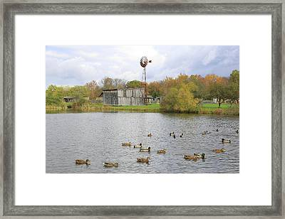 Framed Print featuring the digital art Bedford Village by Sharon Batdorf