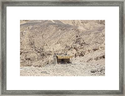 bedouin house in the desert in Egypt Framed Print