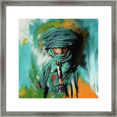 Bedouin Man 453 I Framed Print by Mawra Tahreem