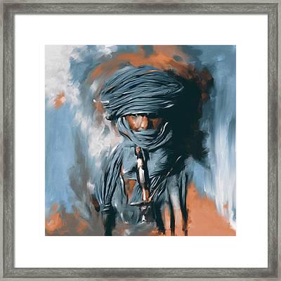 Bedouin Man 453 II Framed Print by Mawra Tahreem