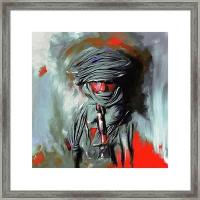 Bedouin Man 453 IIi Framed Print by Mawra Tahreem