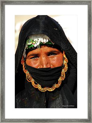 Bedouin Women Framed Print by Chaza Abou El Khair