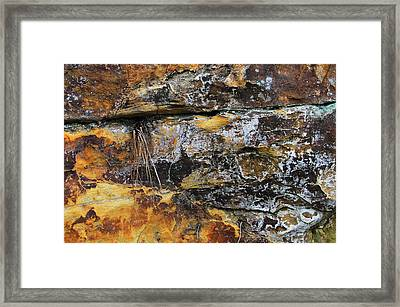 Framed Print featuring the digital art Bedrock by Julian Perry
